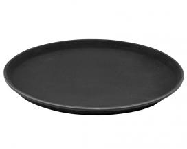Разнос антислип черный (антискользящее покрытие), 41 см