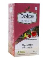 """Чай """"Dolce Natura"""" Фруктовое наслаждение, 2г*25 шт (фруктовый чай в пакетиках)"""