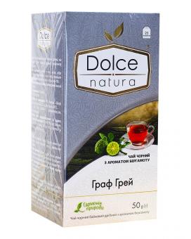 """Чай черный """"Dolce Natura"""" Граф Грей, 2г*25 шт (ароматизированный чай в пакетиках)"""