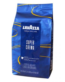 Кофе в зернах Lavazza Super Crema, 1 кг (90/10)
