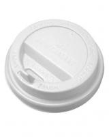 Крышка для стакана КР-80 мм белая с носиком, 50 шт