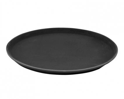 Разнос антислип черный (антискользящее покрытие), 36 см