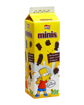 Печенье шоколадное с сахаром Arluy Minis Simpsons, 275 г
