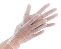 Перчатки виниловые прозрачные, размер М, 100 шт