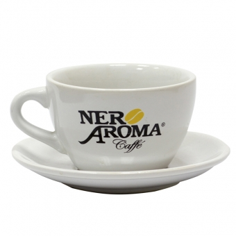 "Чашка с блюдцем ""Капучино"" 350 мл. Nero Aroma"