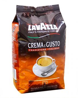 Кофе в зернах Lavazza Crema e Gusto Tradizione Italiana, 1 кг (70/30)