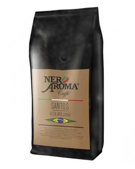 Кофе в зернах Nero Aroma Santos Alta Mojana, 1 кг (моносорт арабики)