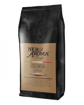 Кофе в зернах Nero Aroma Colombia Supremo, 1 кг (моносорт арабики)