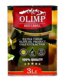 Масло оливковое первого отжима Extra Virgin Olive Oil Gold Extraction OLIMP RED LABEL, 3 л