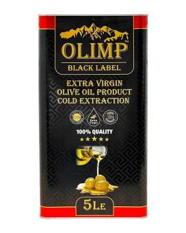 Масло оливковое первого отжима Extra Virgin Olive Oil Gold Extraction OLIMP BLACK LABEL, 5 л