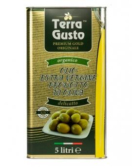 Масло оливковое первого отжима Extra Virgin TERRA GUSTO GOLD, 5 л