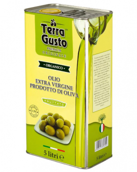 Масло оливковое первого отжима Extra Virgin TERRA GUSTO FRUTTATO, 5 л