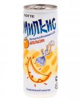 Напиток молочный безалкогольный газированный Милкис Апельсин ЛОТТЕ, 250 мл (Milkis Orange LOTTE)