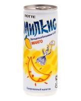 Напиток молочный безалкогольный газированный Милкис Манго ЛОТТЕ, 250 мл (Milkis Mango LOTTE)
