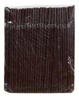 Трубочка шоколад (ПП), d5 мм, 21 см, 200 шт