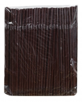 Трубочка шоколадная (ПП), d5 мм, 21 см, 200 шт