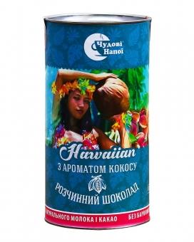 Горячий шоколад Чудові напої Hawaiian с ароматом кокоса, 200 г (тубус)