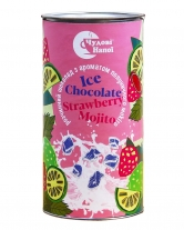 Горячий шоколад Чудові напої Ice Chocolate Strawberry Mojito с ароматом клубничного мохито, 200 г (тубус)