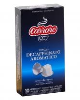 Кофе в капсулах Carraro Decaffeinato Aromatico NESPRESSO (без кофеина), 10 шт