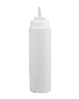 Бутылка для соуса белая, 900 мл (соусник, диспенсер, дозатор)