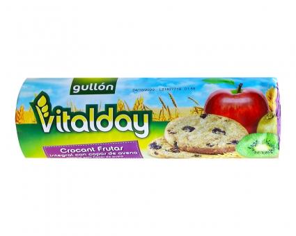 Печенье цельнозерновое с фруктами GULLON Vitalday Crocant Frutas, 300 г (16 шт)