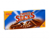 Печенье в молочном шоколаде Griesson Choco Sticks Milk Chocolate, 150 г