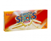 Печенье в белом шоколаде Griesson Choco Sticks White Chocolate, 150 г