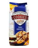 Печенье с черным, белым и молочным шоколадом Griesson Cookies Extra Triple Chocolate, 200 г