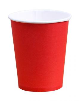 Стакан бумажный красный 250 мл, 50 шт