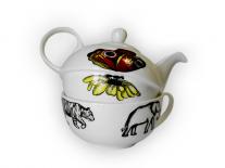 Набор Эгоист: чашка 340 мл и чайник 375 мл Wilmax (Звери)