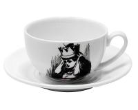 Чашка Алиса джамбо Wilmax 250мл с блюдцем