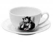 Чашка с блюдцем Wilmax Алиса джамбо, 250 мл