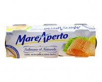 Сёмга консервированная натуральная Mare Aperto, 3шт*80г