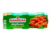 Мидии консервированные Rianxeira, 3шт*80гр