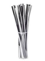 Трубочка Артистик черно-белая d6, 26см, 100шт