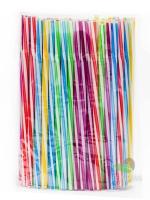 Трубочка фреш цветная, витая, с гофрой, d8, 25см, 100шт