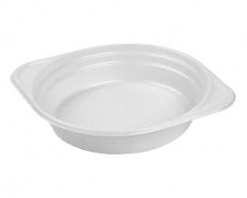 Тарелка одноразовая пластиковая глубокая белая 350 мл, 100 шт
