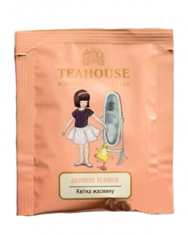 Чай Teahouse Цветок жасмина 2г*50 (зелёный чай в пакетиках), 100 г