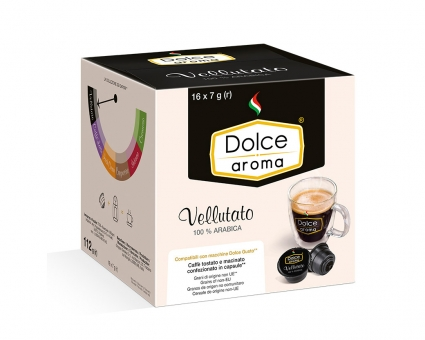 Кофе в капсулах Dolce Aroma Vellutato Dolce Gusto, 16 шт