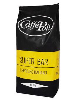 Кофе в зернах Caffe Poli Superbar, 1 кг (90/10)