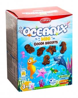 Печенье шоколадное Cuetara Oceanix Mini Cocoa Biscuits, 120 г