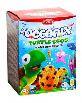 Печенье с шоколадной крошкой Cuetara Oceanix Turtle Eggs Choco Chips Biscuits, 140 г
