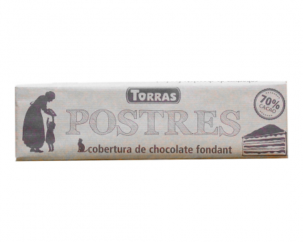 Шоколад черный без глютена TORRAS Postres 70%, 300 г
