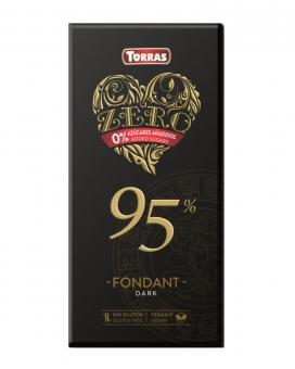 Шоколад экстра-черный без сахара, без глютена Torras Zero 95%, 100 г