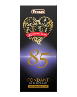 Шоколад черный без сахара, без глютена TORRAS Zero 85%, 100 г