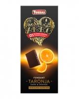 Шоколад черный без сахара, без глютена Torras Zero с апельсином 52%, 125 г