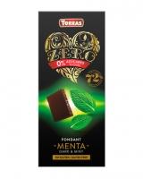 Шоколад черный без сахара, без глютена Torras Zero с мятой 52%, 100 г