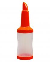 Бутылка с гейзером + крышка, 1 л, оранжевая (диспенсер, дозадор)