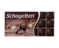 Шоколад Schogetten Dark Chocolate with Cocoa & Hazeinuts