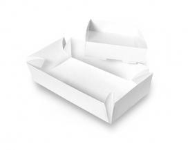 Коробка для суши бумажная белая 200х100х50 мм, 1 шт